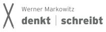 Logo Werner Markowitz denkt | schreibt